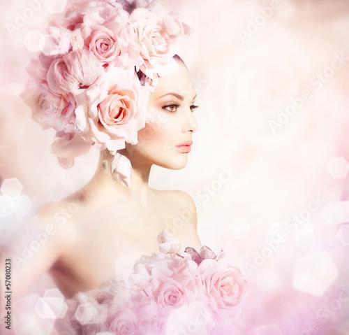 moda-uroda-model-dziewczyna-z-kwiatami-wlosow-panna-mloda