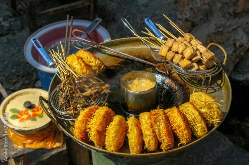 Street food in Lijiang, Yunnan, China.