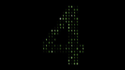 Binary code screen matrix style
