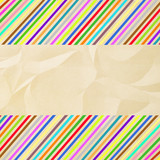Colorful crinkle paper1 poster