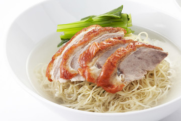 Noodle soup with Chinese roasted duck