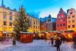 Leinwanddruck Bild - Christmas fair in Stockholm, Sweden