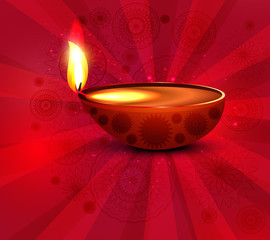 Vector illustration for beautiful diwali lamp background