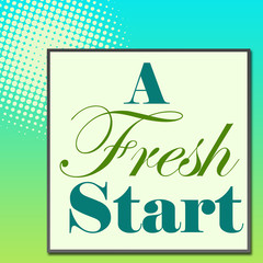 A Fresh Start Green Turquose