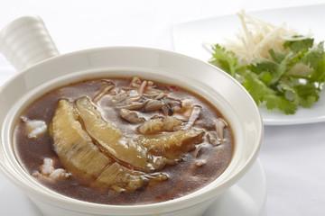 Shark fin soup,close up