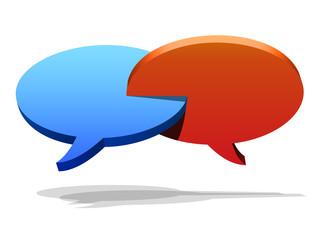 Kommunikation Sprechblasen 1