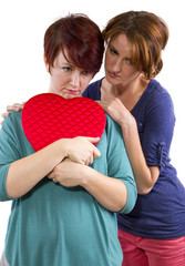 consoling a friend suffering from a broken heart