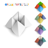 Colorful origami Fortune Teller poster
