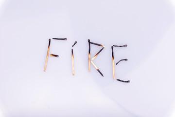 Feuer-abgebrannt
