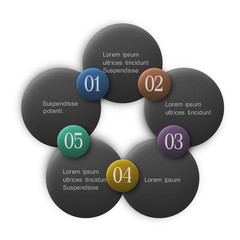 Buttons options - infographics design