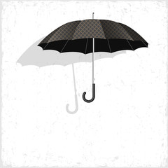 Vector classical umbrella on grunge background