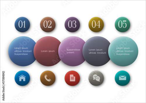 Buttons options - infographics and web design