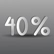 бумажные сорок процентов на сером фоне