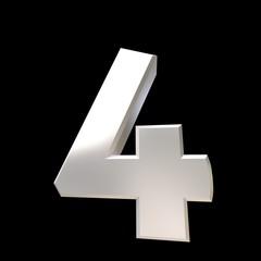 Number 4 chrome