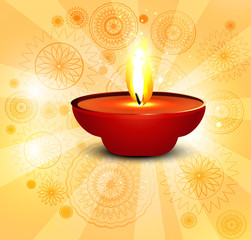 Beautiful background for diwali lamp vector illustration
