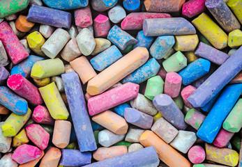 color chalks background