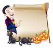 Halloween Vampire Dracula Scroll