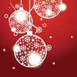 Vector Christmas banner with Christmas balls