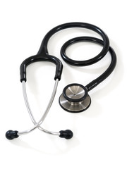 Stethoscope on white background
