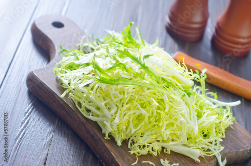 fresh salad on board