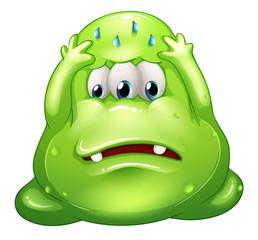 A failed fat green monster