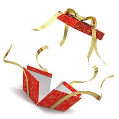 Explodes gift box