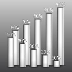 доли процентов на сером фоне