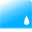 blue water background with drop silhouette