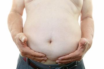 肥満気味の男性