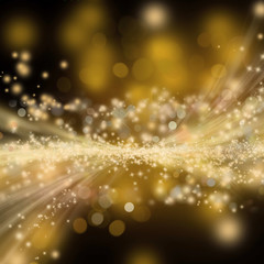 Golden shiny holiday background