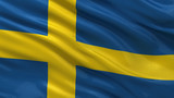 Flag of Sweden waving in the wind