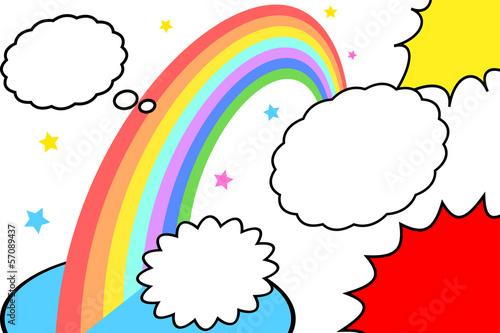 吹き出しと虹