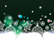 vector Christmas background with decorative elements