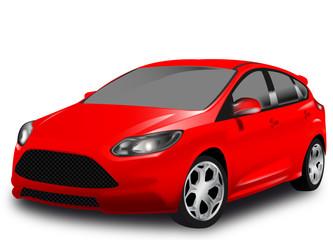 Auto utilitaria sportiva rossa