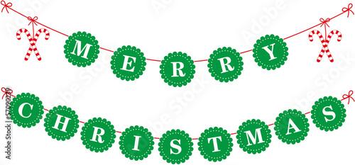 merry christmas girlande