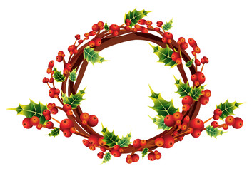 christmas holly wreath,winter decoration bouquet