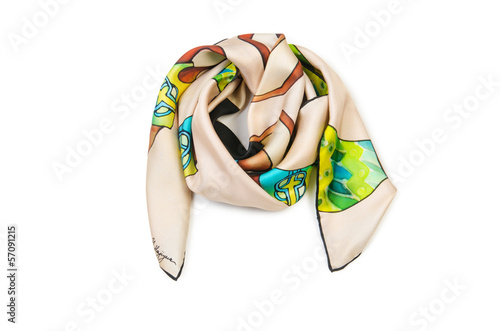 Warm scarf isolated on the white background