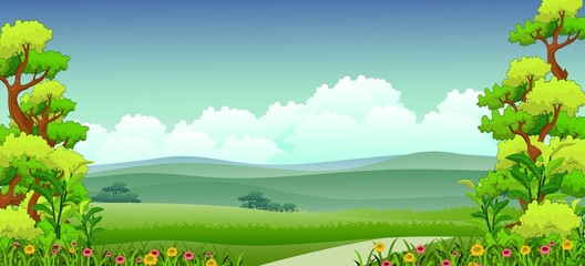 vector illustration of beauty nature background