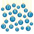 Advent Calendar Christmas Balls Blue/Gold