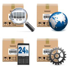 Vector Shipment Icons Set 15