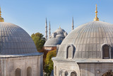Window view of the Blue Mosque from Hagia Sophia
