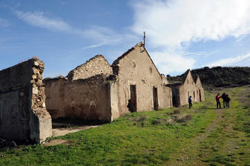 Abandoned mining town, Cerro del Hierro, Spain