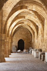 Rhodes archaeological museum the medieval building