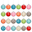 Advent Calendar Christmas Balls Lines Retro/Silver