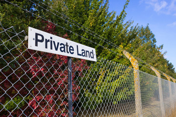 Private Land Notice