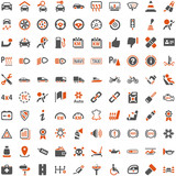 Orange Grey Webicons - Automobile Technology