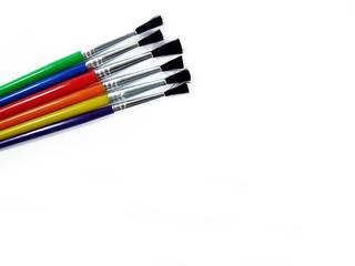 Colourful Brushes on White Background