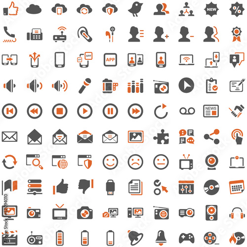 Orange Grey Webicons - Social Media Communicationicon