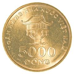 5000 vietnamese dong coin