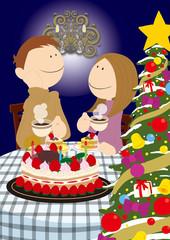 Couple_ChristmasCake